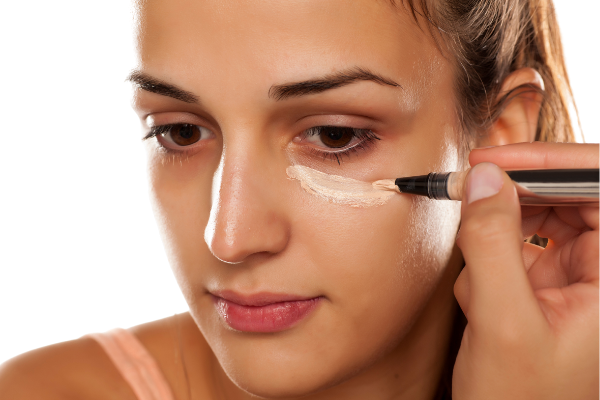 Applying Concealer with a Brush
