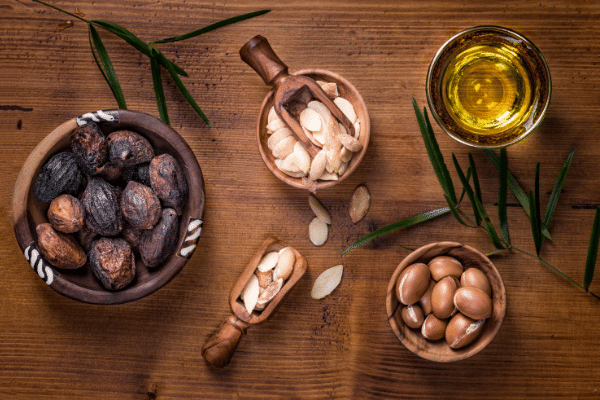 Argan Fruit and Seeds. Argan Oil is used in Hair Conditioner