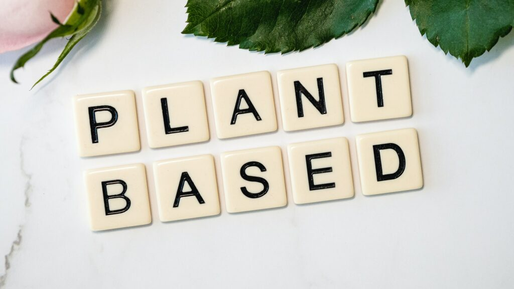 plant based skincare, vegan skin care products, plant based word tiles